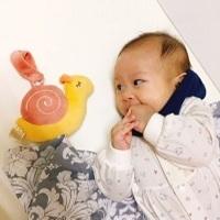 口腔期嬰兒好朋友~寶寶安撫玩具「miYim有機棉吊掛娃娃啾啾小蝸」