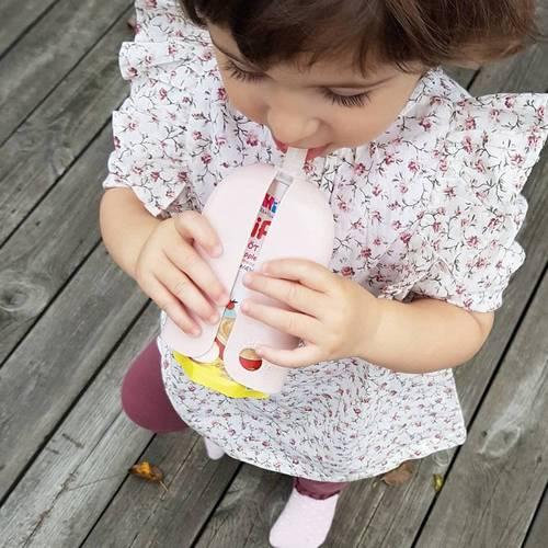 HÅLLIS賀莉施 有機果泥防擠套 冰莓粉 HALLIS