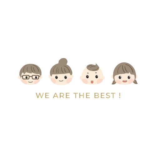 寶寶棉柔連身衣 WE ARE THE BEST!家庭版