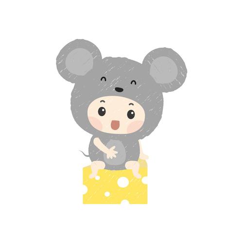 寶寶棉柔包屁衣 鼠寶寶 長袖
