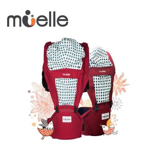 Muelle 坐墊式嬰兒腰凳背巾 經典紅