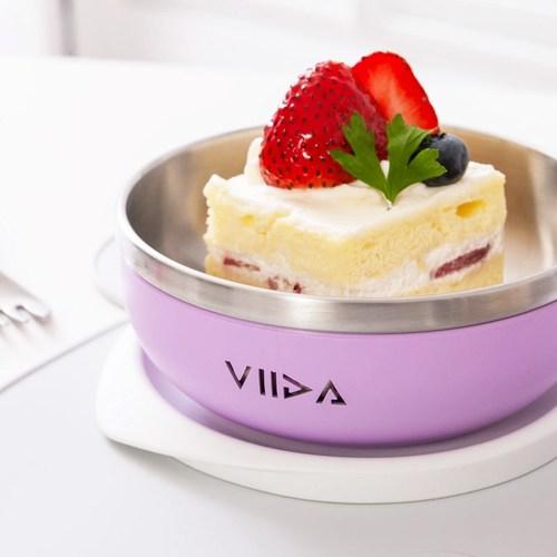 VIIDA Soufflé 抗菌不鏽鋼餐碗-薰衣草紫