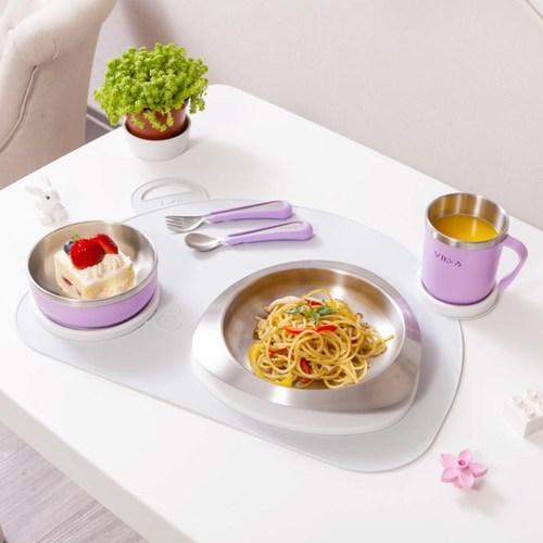 VIIDA Soufflé 抗菌不鏽鋼餐具組-薰衣草紫