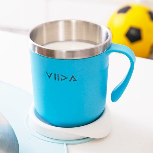 VIIDA Soufflé 抗菌不鏽鋼杯-寶貝藍