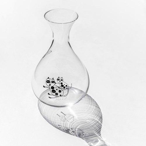 cindymode 手工玻璃壺(冷水壺)-摺耳貓