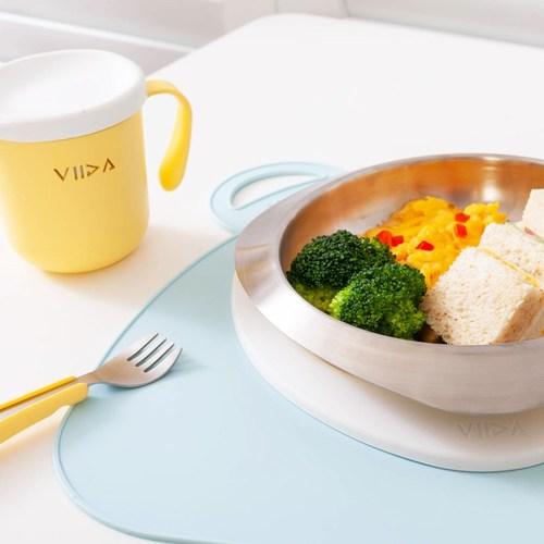 VIIDA Soufflé 抗菌不鏽鋼餐具組-萊姆黃