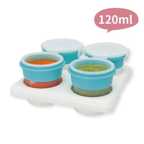 2angels矽膠副食品儲存杯 120ml 2組