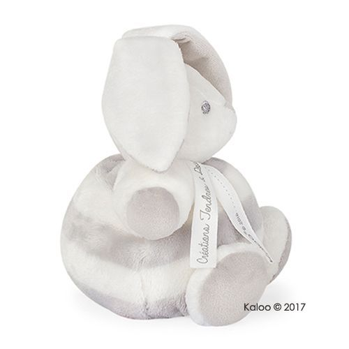 Kaloo -Bebe Pastel屋型免兔玩偶-小-淺灰奶霜白