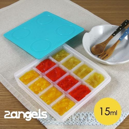 2angels 矽膠副食品儲存組 15ml + 120ml