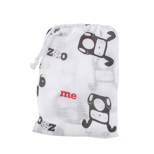 mezoome純棉紗布包巾 蜜桃紅