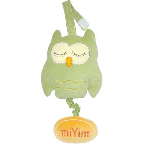 miYim有機棉音樂拉鈴 歐唷貓頭鷹