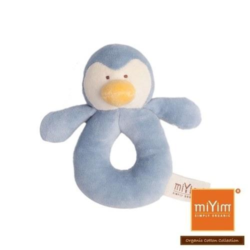 miYim有機棉手搖鈴 噗噗企鵝