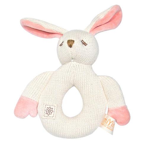 【絕版出清】miYim有機棉固齒手搖鈴 兔兔