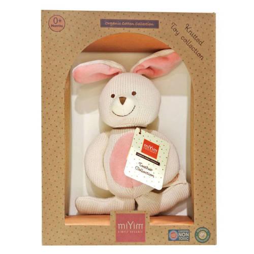 miYim有機棉固齒娃娃禮盒 兔兔