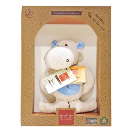 miYim有機棉固齒娃娃禮盒 河馬