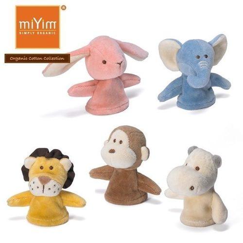 miYim有機棉動物手指玩偶 一組五隻