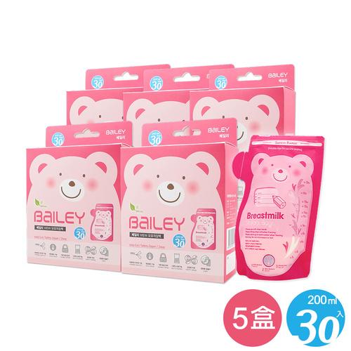 【超值5盒組】BAILEY感溫母乳儲存袋(壺嘴型) 30入