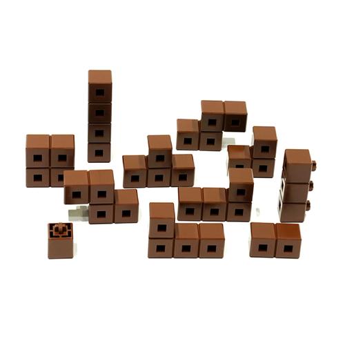 AniBlock安尼博樂 AR積木拼圖 單色積木 (咖啡色)