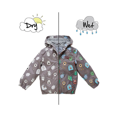 HOLLY & BEAU變色雨衣 灰色怪獸