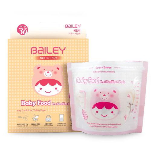 【超值5盒組】BAILEY副食品儲存袋 30入