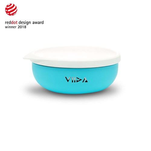 VIIDA Soufflé 抗菌不鏽鋼餐碗-寶貝藍