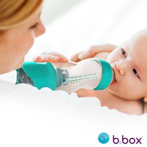 b.box防脹氣奶瓶+奶粉盒 玫瑰紅