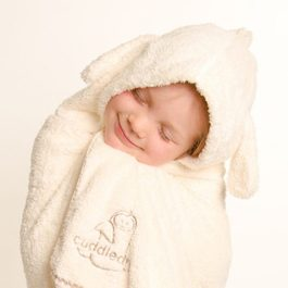Cuddledry兒童舒適浴巾-兔子