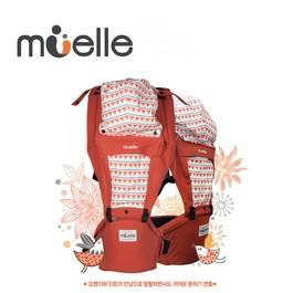 Muelle 坐墊式嬰兒腰凳背巾 可愛橘