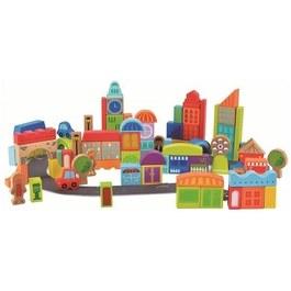 德國Hape愛傑卡 城市創意積木組(80塊)