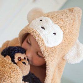 Cuddledry兒童舒適浴巾-猴子