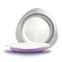VIIDA Soufflé 抗菌不鏽鋼餐盤-薰衣草紫