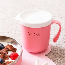 VIIDA Soufflé 抗菌不鏽鋼杯-甜心粉