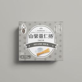 【米香抱抱】山藥薏仁捲-芝麻牛奶口味24m+