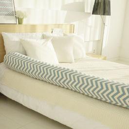 Kangaruru多功能防跌落床圍抱枕 175cm 藍湖綠波紋