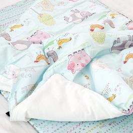 Kangaruru親膚抗菌防蹣寶貝毯 藍色棉花糖