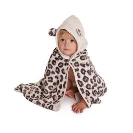 Cuddledry有機棉幼童舒適浴巾-豹紋