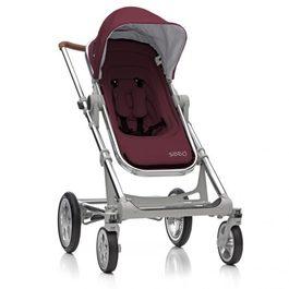 丹麥Seed - Papilio頂級嬰兒推車 (銀車架+紅座椅)