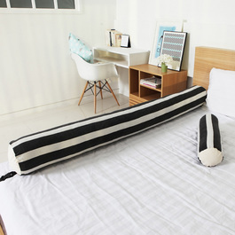 Kangaruru多功能防跌落床圍抱枕 175cm 黑白配條紋