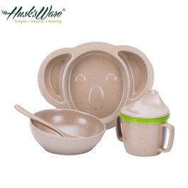Husk's ware稻殼天然無毒環保兒童餐具組 無尾熊款