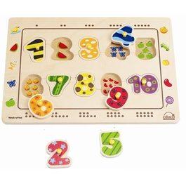 德國Hape愛傑卡 數字配對木拼圖