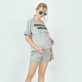 LoveMom 休閒風散步套裝 (二件式) | 孕婦裝 哺乳衣