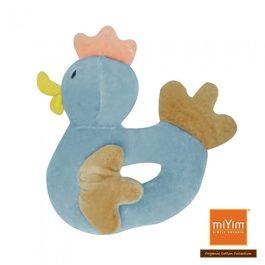 miYim有機棉手搖鈴 小雞(藍色)