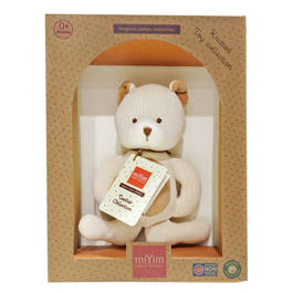 miYim有機棉固齒娃娃禮盒 熊熊