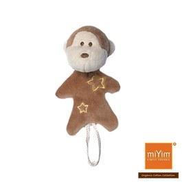 miYim有機棉安撫奶嘴鍊夾 布布小猴
