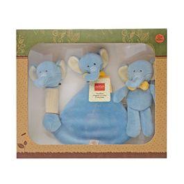 miYim有機棉安撫玩具禮盒組 芬恩象象