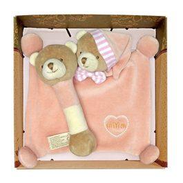 miYim有機棉晚安小熊禮盒 粉色