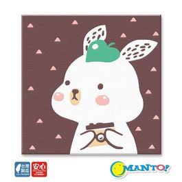 MANTO數字油畫(20x20cm) 文青兔