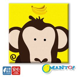 MANTO數字油畫(20x20cm) 大嘴猴