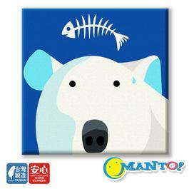 MANTO數字油畫(20x20cm) 北極熊