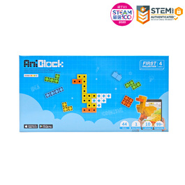 【親子天下STEAM嚴選】AR積木拼圖 4色 - AniBlock安尼博樂